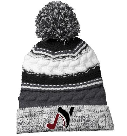 Embroidered Knit Cap - Music N